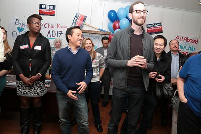 Left to right, Jacquelyn Omotalade, David Chiu, Scott Wiener.