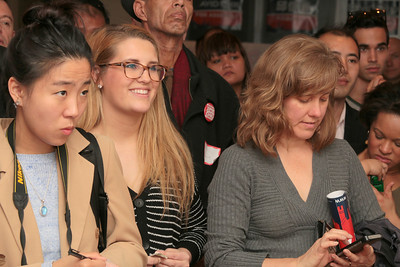 Right, gray shirt, Heidi Machen, an attorney focusing on regulatory and employment law.