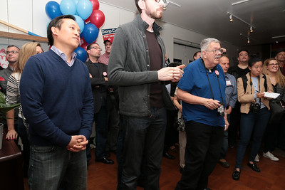 Left to right, Jacquelyn Omotalade, David Chiu, Scott Wiener.