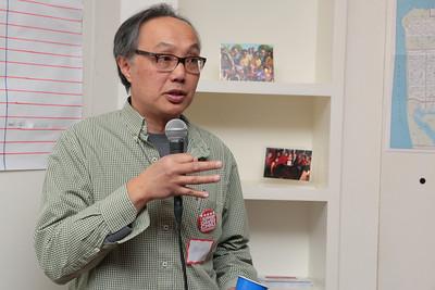 Warren, a labor representative, endorsing David Chiu.