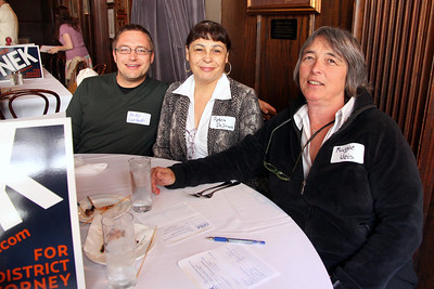 Left to right: Andy Langolf, Petra DeJesus, Maggie Weis.
