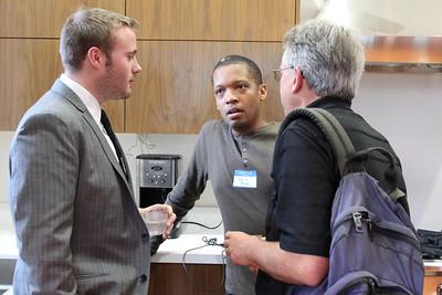 Kevin Bard talking with Howard Fallon.