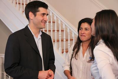 David Onek talking with Rebecca Katz.