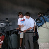 """Journalists and Republican operatives at a Republican """"counter-convention"""" event in Denver during the Democratic National Convention on Wednesday, August 27, 2008. (Anne-Marie Taylor)"""
