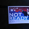 """Anti-Obama placard at a Republican """"counter-convention"""" event in Denver during the Democratic National Convention on Wednesday, August 27, 2008. (Anne-Marie Taylor)"""