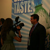 Daily show reporter Rob Riggle at the Democratic National Convention in Denver Monday, August 25, 2008. (Anne-Marie Taylor)