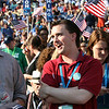 There was palpable excitement among the Washington state delegates at Invesco Field during the historic presidential nomination acceptance speech of Sen. Barack Obama during the Democratic National Convention in Denver, Thursday, August 28, 2008. (Anne-Marie Taylor Lathrop)
