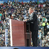 Sen. Richard Durbin addresses the crowd at Invesco Field during the Democratic National Convention in Denver, Thursday, August 28, 2008. (Anne-Marie Taylor Lathrop)