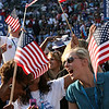 Delegates go wild for Barack Obama at Invesco Field during the Democratic National Convention in Denver, Thursday, August 28, 2008. (Anne-Marie Taylor Lathrop)