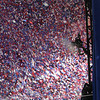 Confetti at Invesco Field during the Democratic National Convention in Denver, Thursday, August 28, 2008. (Anne-Marie Taylor Lathrop)