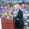 Sen. Joe Biden, the Democratic vice presidential candidate, addresses the crowd at Invesco Field during the Democratic National Convention in Denver, Thursday, August 28, 2008. (Anne-Marie Taylor Lathrop)