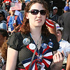 Delegate at Invesco Field during the Democratic National Convention in Denver, Thursday, August 28, 2008. (Anne-Marie Taylor Lathrop)