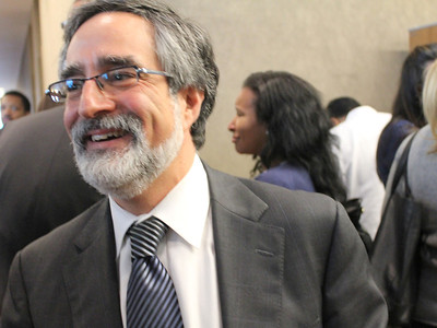 Aaron Peskin, featured speaker, former city supervisor and the current chair of the San Francisco Democratic Party.
