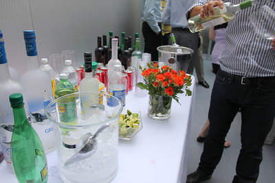 The refreshments were all top shelf including two of my favorites - Grey Goose (from France) and Belvedere (from Poland).