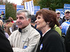 Michael and Kitty Dukakis. True to form, they were in the middle of the crowd with us regular folks, and not in some VIP area.