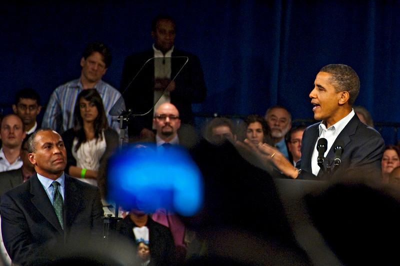 Deval Patrick Rally with President Barack Obama, Hynes Auditorium, Boston, MA Oct 17, 2010