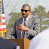 MassDevelopment announced on Tuesday a $1.85 million dollar investment for the the phase 4, the final phase, of Devens Jackson Road redevelopment project. Arthur Jemison the Deputy Under Secetary for Housing address' the crowd at the event on Devens. SENTINEL & ENTERPRISE/JOHN LOVE