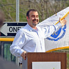 MassDevelopment announced on Tuesday a $1.85 million dollar investment for the the phase 4, the final phase, of Jackson road redevelopment project.  John Witkowski the general manager of Operations for Nypro Healthcare, Drug Delivery & Diagnostics address' the crowd at the event on Devens. SENTINEL & ENTERPRISE/JOHN LOVE