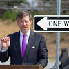 MassDevelopment announced on Tuesday a $1.85 million dollar investment for the the phase 4, the final phase, of Devens Jackson Road redevelopment project.  Matt Erskine Deputy Assistant Secretary of U.S. Commerce for Economic Development  address' the crowd at the event on Devens. SENTINEL & ENTERPRISE/JOHN LOVE