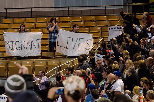 Donald Trump rally at DCU Center