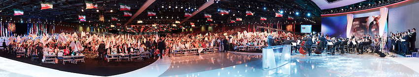 Iranians supporting Iranian opposition leader Maryam Rajavi