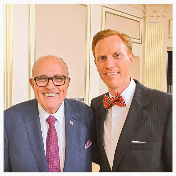 Dr. Ivan Sascha Sheehan and Mayor Rudy Giuliani