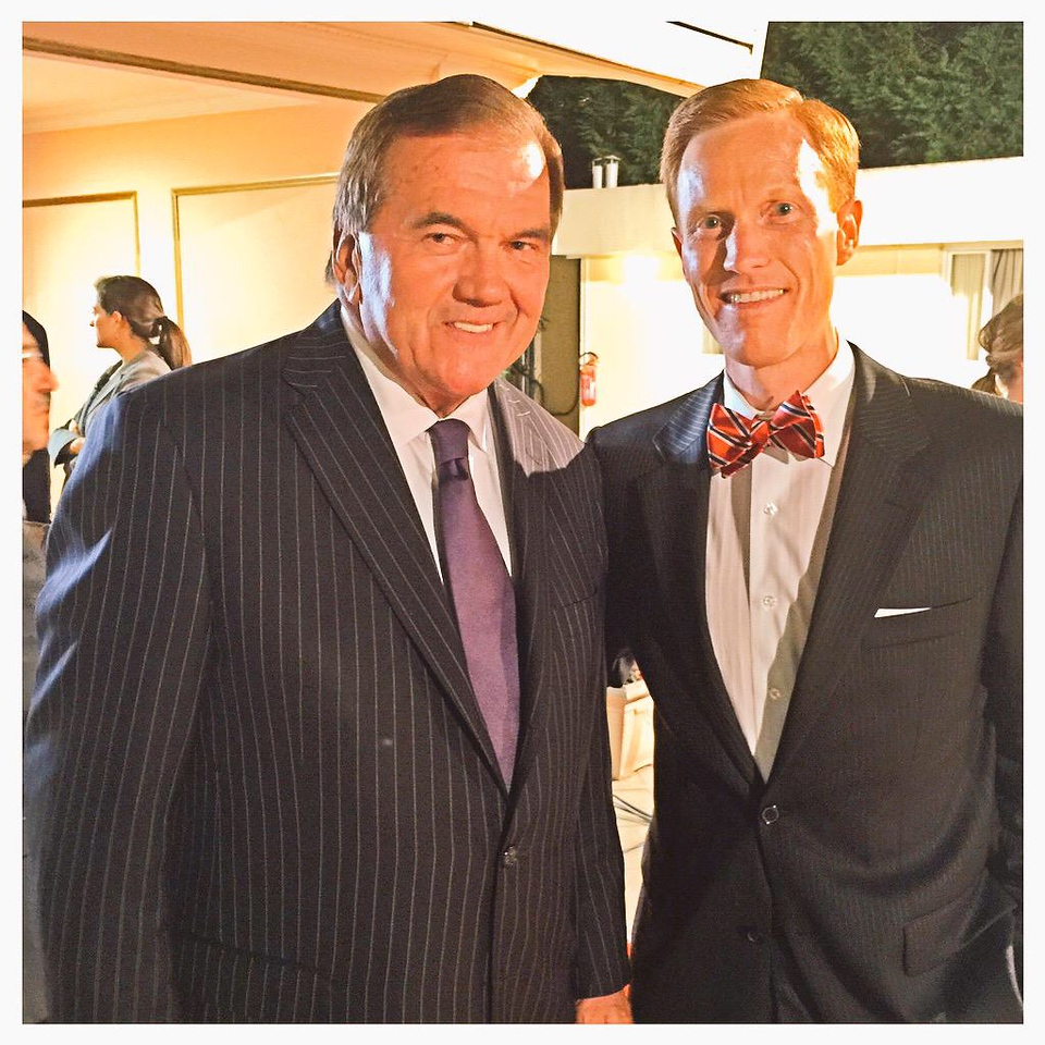 Dr. Ivan Sascha Sheehan and Secretary of Homeland Security Tom Ridge