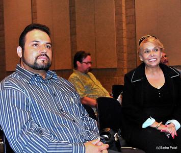 Jose and Anna Medina, Addison were present to provide Spanish translation services.