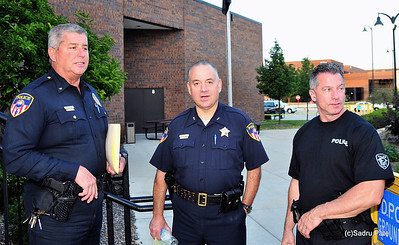 L-R Commander R. Grossman, Dep. Chief Thomas Meloni and Commander Volpe, Wheaton Police Dept.