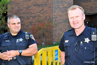 Officer Smith (L) and Sgt. Yanz, Wheaton Police Dept.