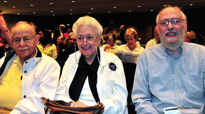 L-R Richard and Marilyn Hotzman and Milt Wasserman