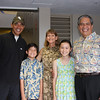Sen Obama visiting private school he attended in Hawaii.  This is the current principle and wife, niece of RN at work.