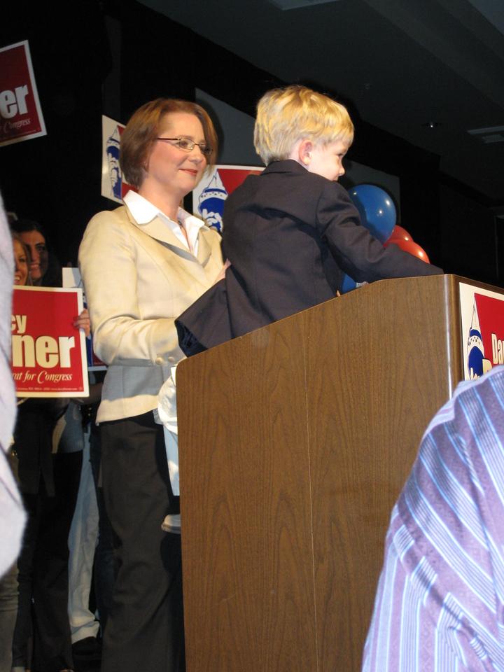 Darcy Burner & her son