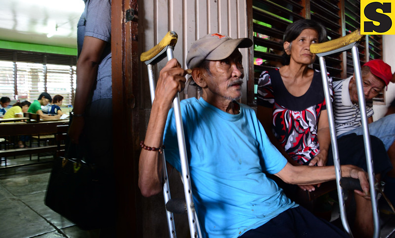 PWD are given pririties to cast their vote. This is in Danao city.<br /> <br />   photo / Allan Cuizon