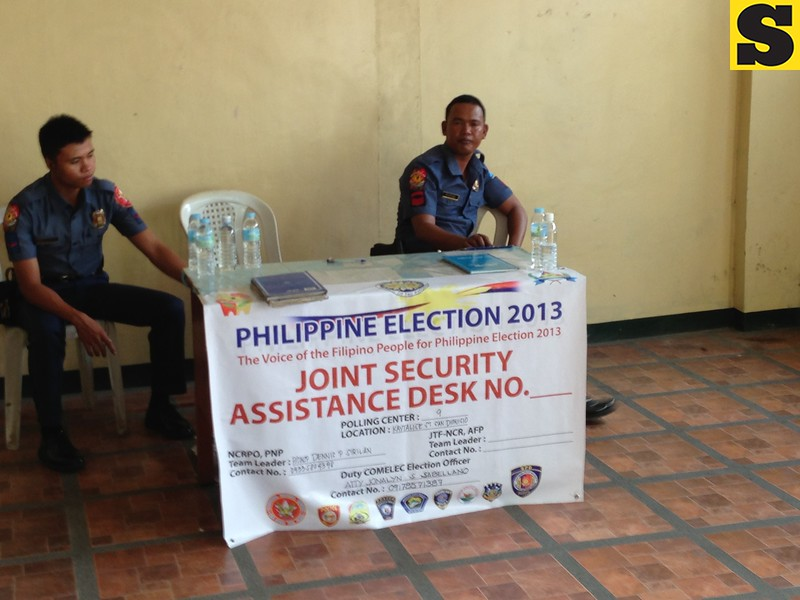 Security Assistance Desk at Paranaque National High School, Paranaque City.