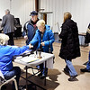 People were lined up to vote Tuesday morning at Parkview Nazarene Church at 911 S. Rangeline Road where three precincts were located, Ward 1, precinct 5 & 6 and Union 6. Poll workers said it had been steady all morning.
