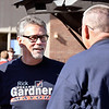 Republican candidate for Anderson Mayor, Rick Gardner, greets folks as he visits Ward 5, precinct 3 at St. Matthew Methodist Church at 1512 N. Madison Ave.