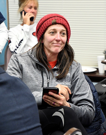 Republican Anderson City council District 1 incumbent Jennifer Culp gives up a smile after gaining a lead on her race as the election results were slowly coming in.