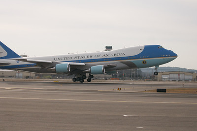 Nov. 22, 2011 Manchester, N.H. - Air Force One takes off from Manchester Airport after  President Barack Obama gave a speech on the American Jobs Act at Manchester High School. By Ryan Hutton