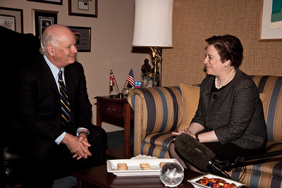 Supreme Court nominee Elena Kagan meets with Senator Benjamin Cardin (D-MD). Kagan was on Capitol Hill for a round of informal meet-and-greets with key Senators on Capitol Hill in Washington DC. on May 13, 2010. (Photo by Jeff Malet)