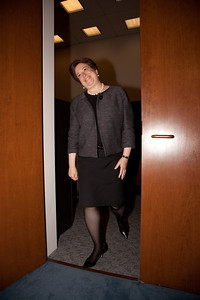 Supreme Court nominee Elena Kagan enters the office of Senator Benjamin Cardin (D-MD). Kagan was on Capitol Hill for a round of informal meet-and-greets with key Senators on Capitol Hill in Washington DC. on May 13, 2010. (Photo by Jeff Malet)