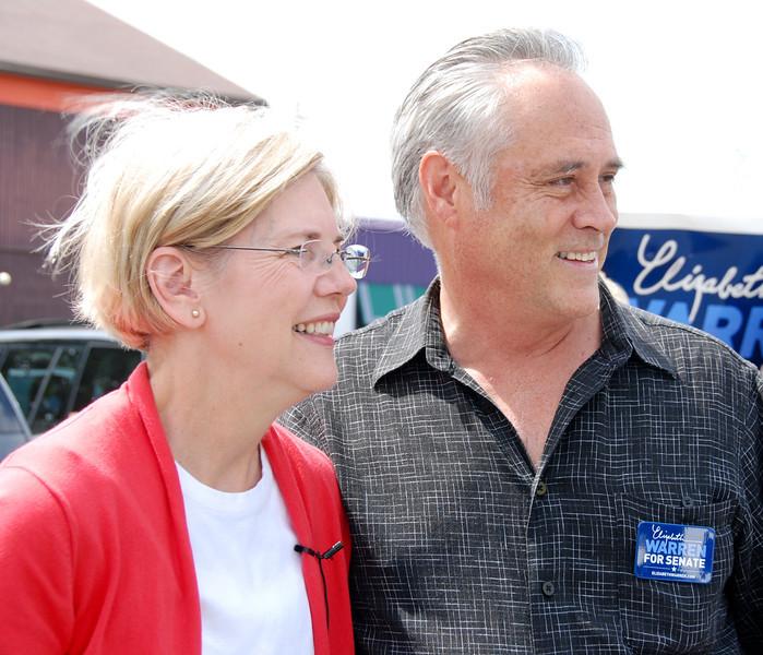 Elizabeth Warren and state Rep. Chris Walsh