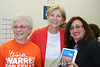Elizabeth Warren with Norma Shulman and Beverly Hugo
