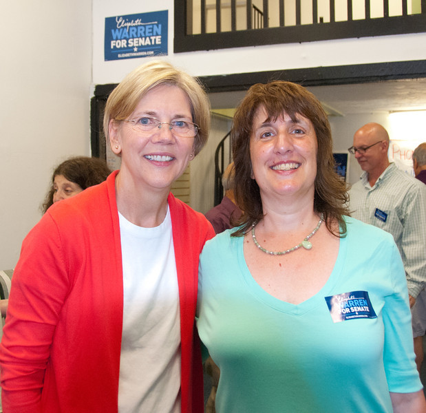 That's me with Elizabeth Warren! She stopped by the Framingham campaign office to meet with volunteers.