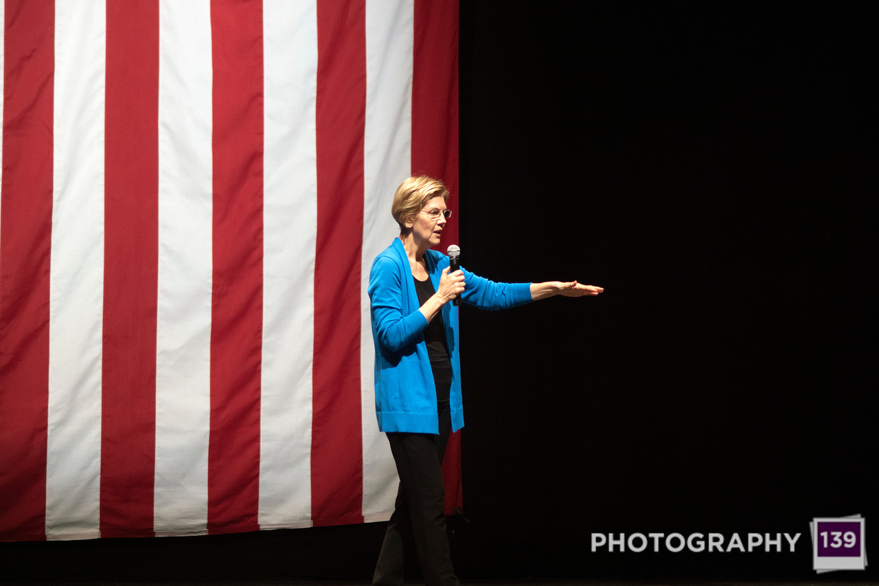 Elizabeth Warren speaking at CY Stephens