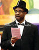 """Rev, Kerit Edwards, Jr reads the """"Emancipation Proclamation"""" during the annual Observerance program at Greater Ward Chapel Saturday. /Mike Adam"""