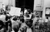 Acto por desaparecidos politicos en Argentina , en iglesia, MexicoDF, Mexico. En la foto: Susana Miguens, centro, Oscar Gonzalez, der, Graciela....., der(Austral Foto/RenzoGostoli)