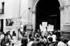 Acto por desaparecidos politicos en Argentina , en iglesia, MexicoDF, Mexico. En la foto: Oscar Gonzalez, der, (Austral Foto/RenzoGostoli)