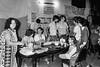 Ayuno de argentinos para reclamar por los desaparecidos, Mexico D.F. Mexico, Mayo, 1983. En la foto: Susana Miguens, izq, Manuel Suarez, der atras,  (Austral Foto/Renzo Gostoli)