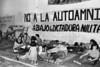 Ayuno de argentinos para reclamar por los desaparecidos, Mexico D.F. Mexico, Mayo, 1983. En la Foto: Olga Colman, der,  (Austral Foto/Renzo Gostoli)